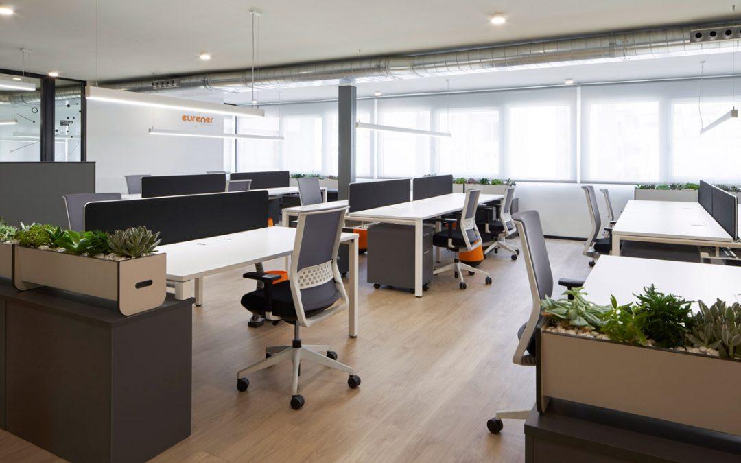 Mobiliario en oficinas de Eurener