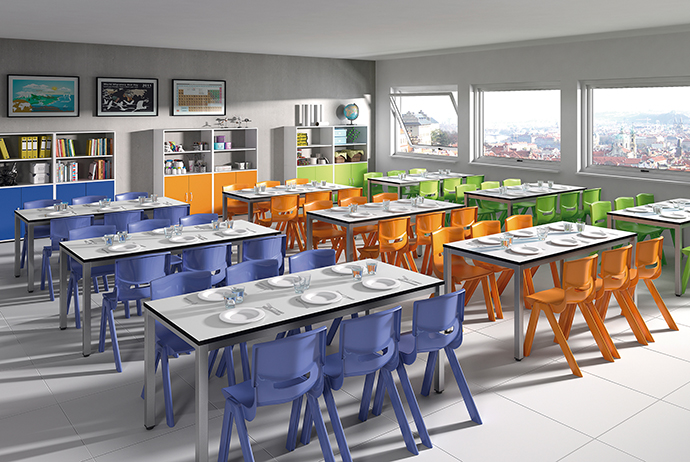 mobiliario de comedor escolar